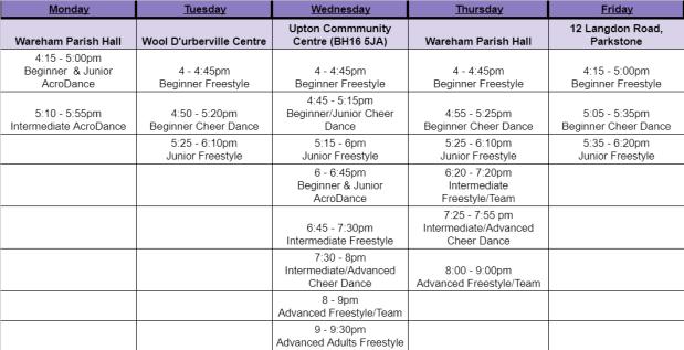 Website timetable